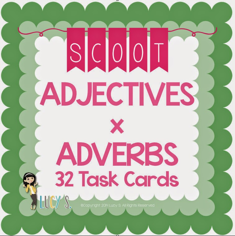 Adjectives x Adverbs SCOOT - 32 Task Cards