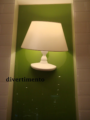 table lamp on wall