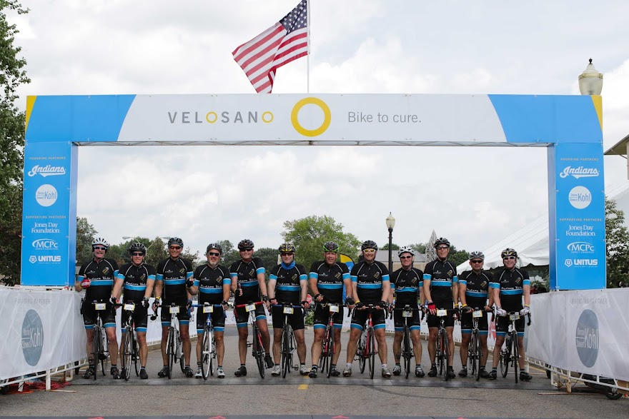 Hudson Velo at the Finish of VeloSano 2.0