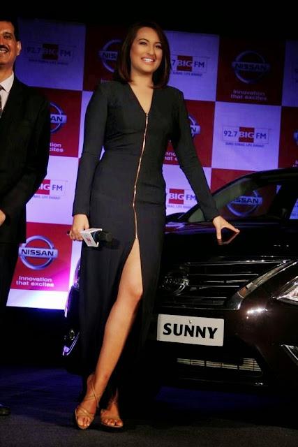Sonakshi Sinha Stills At Nissan Sunny Sedan Event
