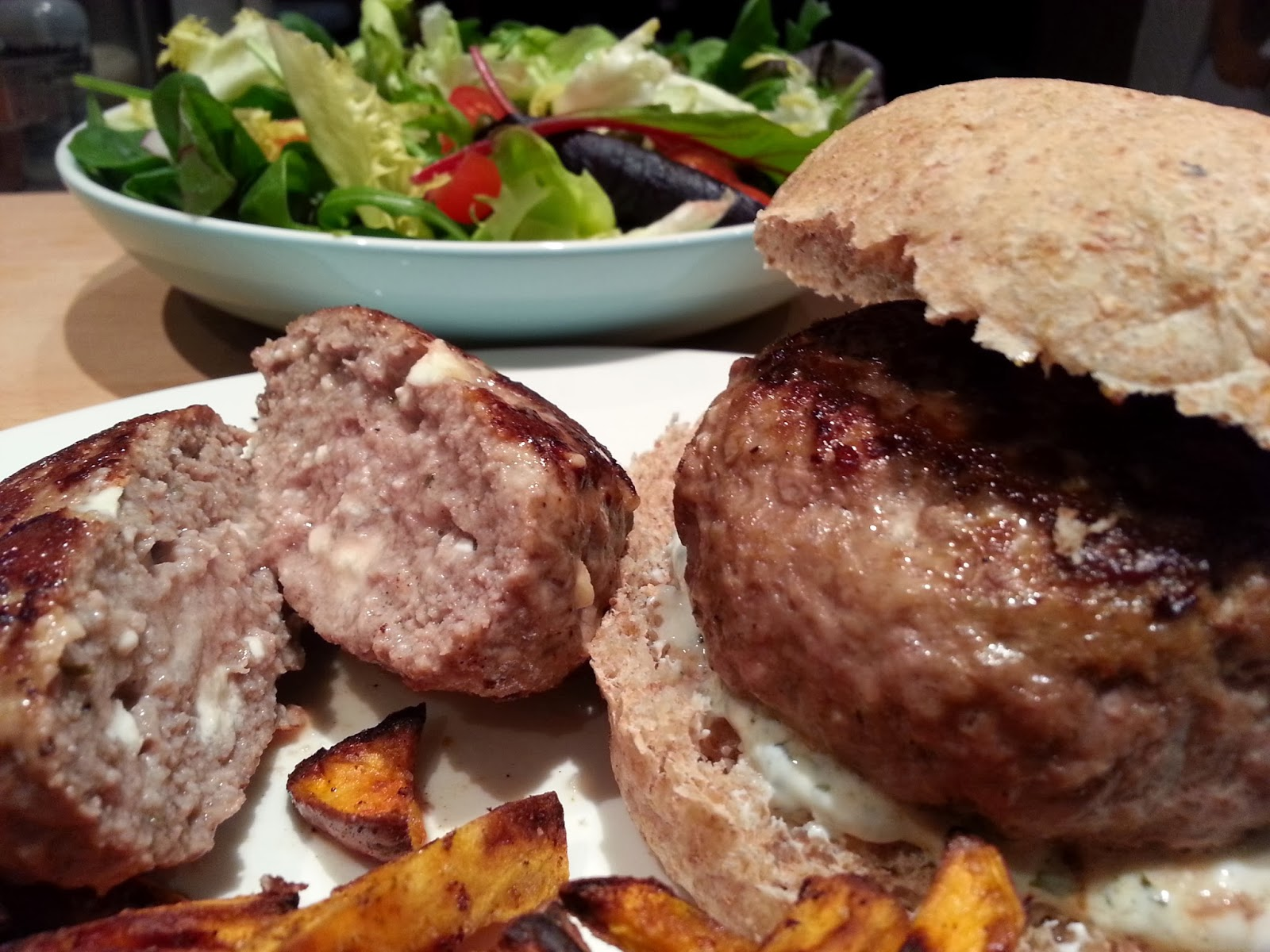 Slimming World Delights: Greek Lamb Burgers