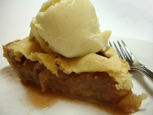 Apple Pie With Ice Cream Clip Art Apple pie with ice cream