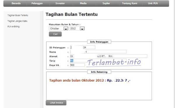 Cek Billing PLN Online Terbaru 2012