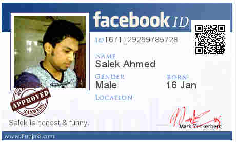 facebook id card