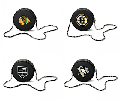 NHL Team Hockey Puck Crossbody Bag