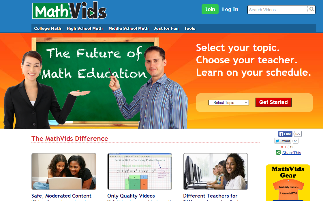 learning never stops great math websites for students of any age in addition to their videos they also offer a section where students can practice their math skills they also have an online problem solver and another