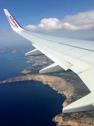 Vista a la costa mallorquina des del avión