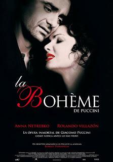 Cartel de la ópera La bohéme