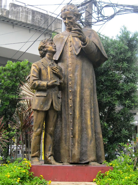 Statues of Don Bosco and Dominic Savio at Don Bosco Church