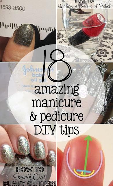 18 Amazing Manicure & Pedicure DIY Tips