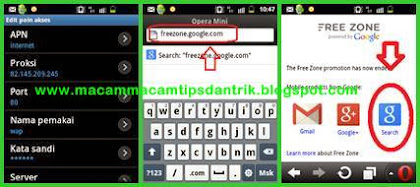 Cara internet gratis android