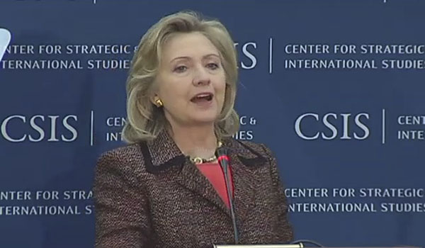 HRC Secretary of State CSIS South America D.C. speech