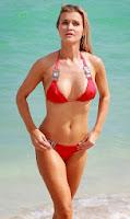 Joanna Krupa Red Bikini Miami