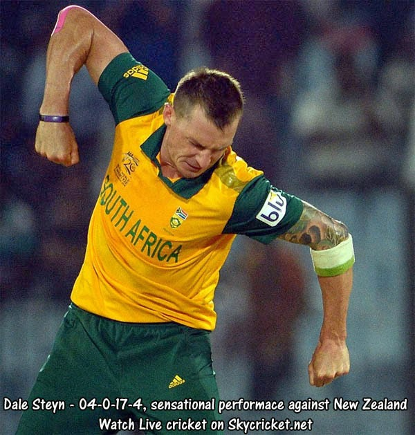Steyn took 4 wickets against New Zealand in T20