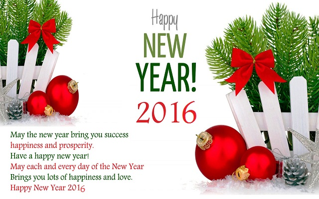 Happy New Year 2016 HD Wallpaper