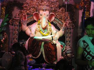 ganesh chaturthi images nr maha laxmi temple adajan surat 2013