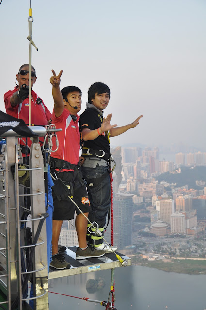 Ed before the Bungee Jump at Macau Tower