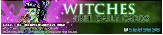 Witches Free Daily Cards banner at Superhero City