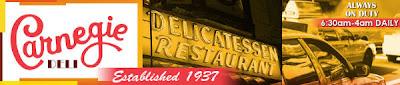 Carnegie Deli: Desde 1937 a su servicio, diariamente de 6:30am hasta las 4am