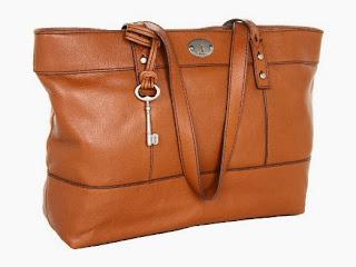 FOSSIL Hunter Shopper Chestnut Color Shoulder Bags