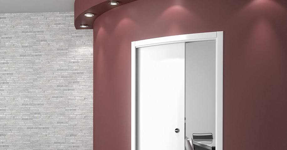 Arredamento di interni porta curva moderna scorrevole con - Porta scorrevole curva ...