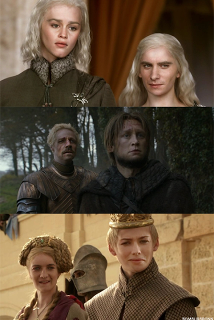 Intercambio de caras - Juego de Tronos en los siete reinos