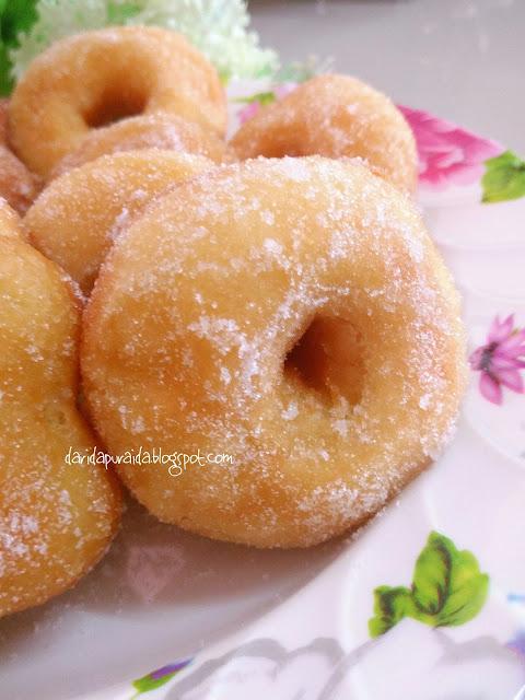 Dari Dapur Aida: Donut Gebu... Paling senang tanpa uli