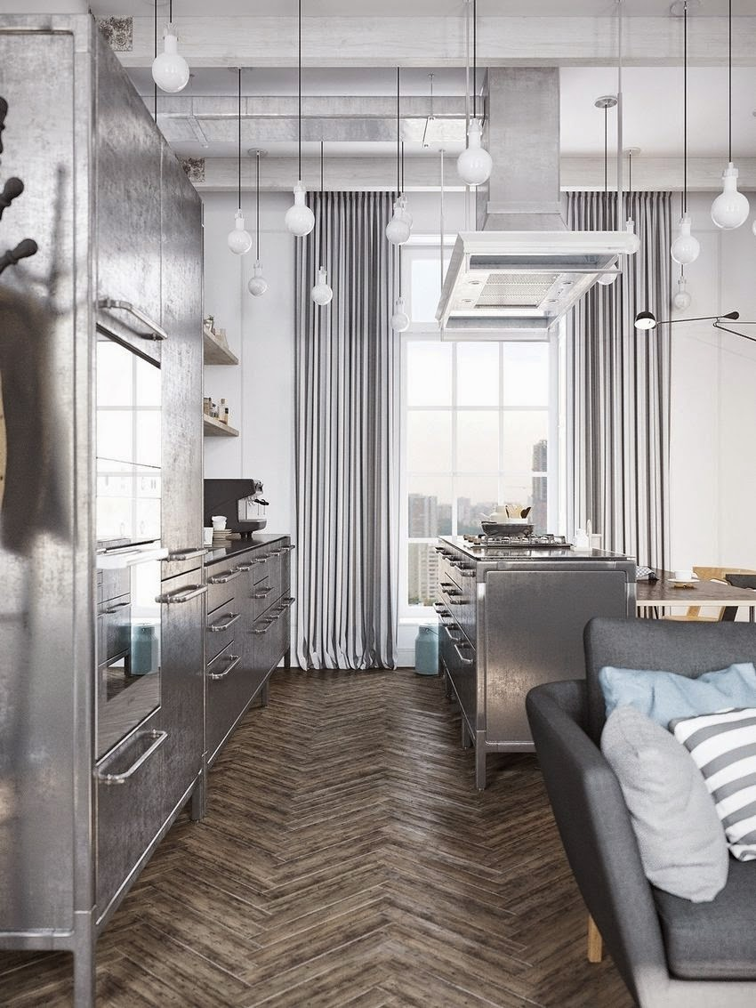 Un loft in stile scandinavo con un tocco industriale for Stile scandinavo