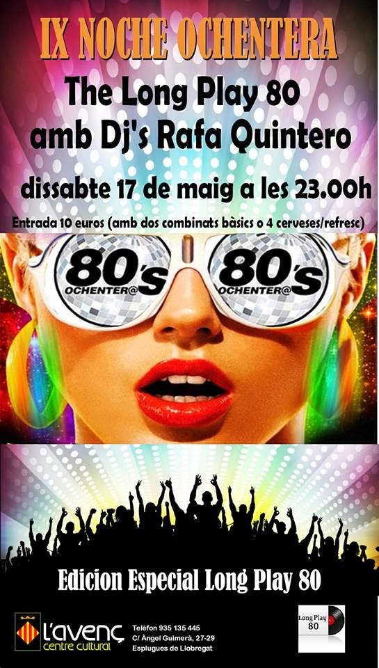 Cartel IX Noche Ochentera 17/05/2014
