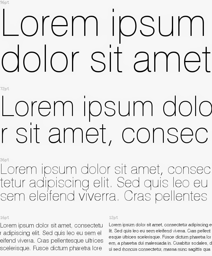 sample of Helios Thin font used for an ink coverage test
