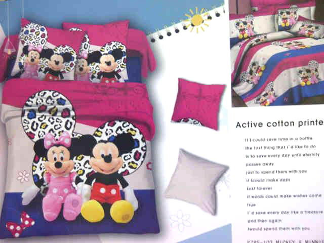 Sprei Anak Motif Mickey Mouse dan Mini