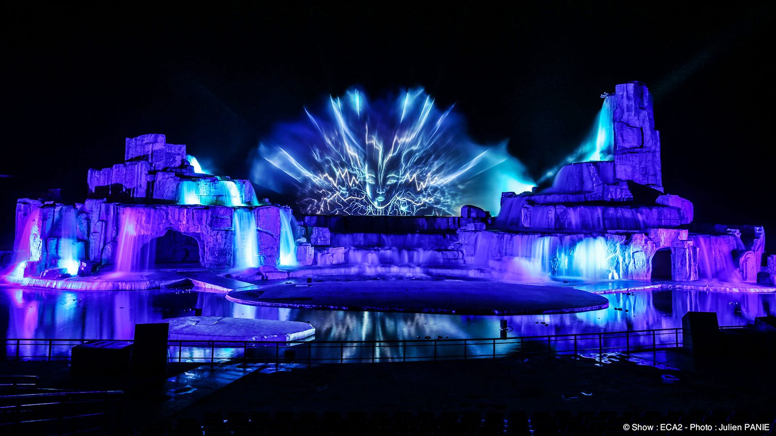 Stage Concert and laser show ~ wallpapersQu