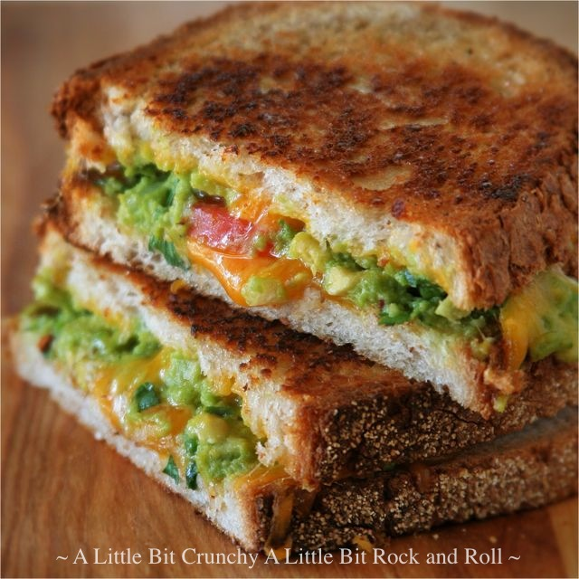 ... Bit Crunchy A Little Bit Rock and Roll: Guacamole Grilled Cheese
