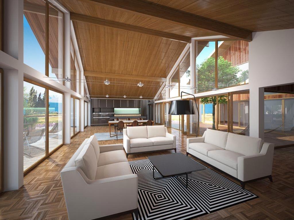 Plantas de casas modernas planta de casa moderna ch112 for Casas moderna