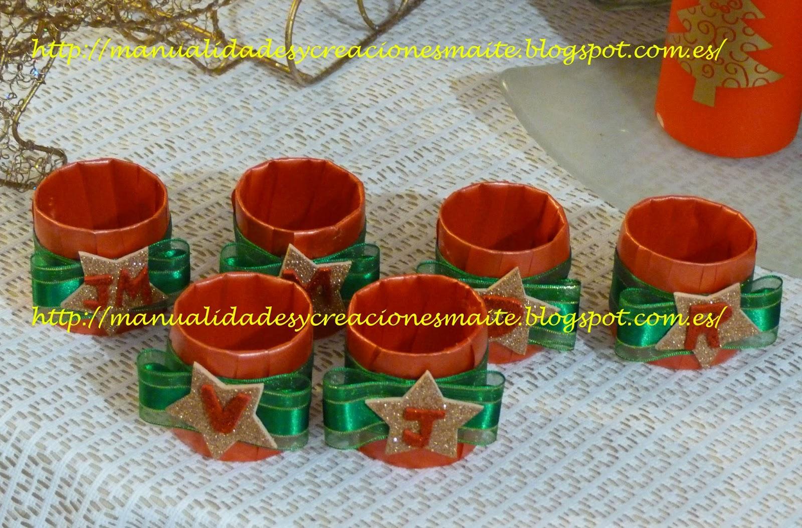 Fofuchas manualidades y creaciones maite servilletero - Manualidades para decorar la mesa en navidad ...