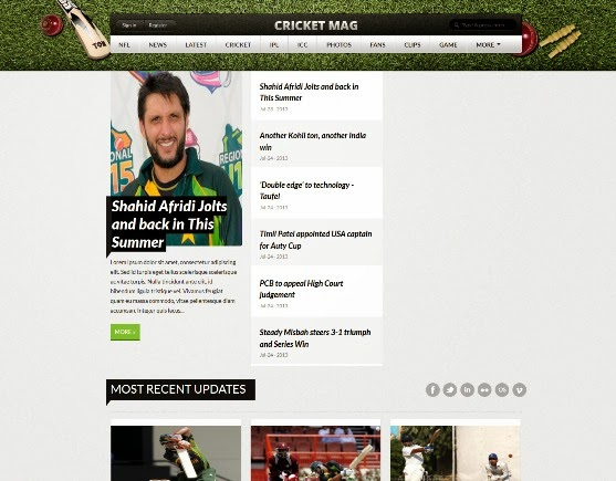 Cricket Mag Blogger Template