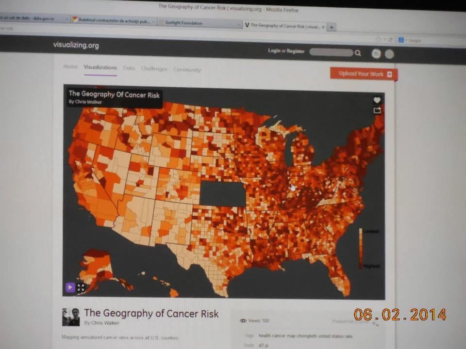 harta a riscului de cancer in SUA