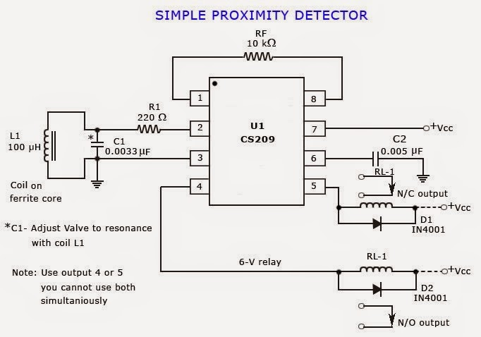Proximity Sensor Schematic Diagram Circuit Connection Diagram