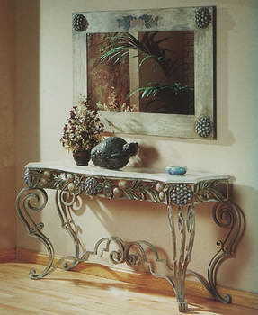 Estilo en muebles hierro forjado cocinas modernass for Decoracion para pared en hierro