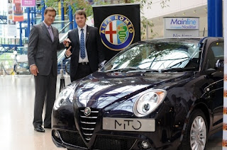 Peter Jones of Dragons' Den presents car to Chichester College student