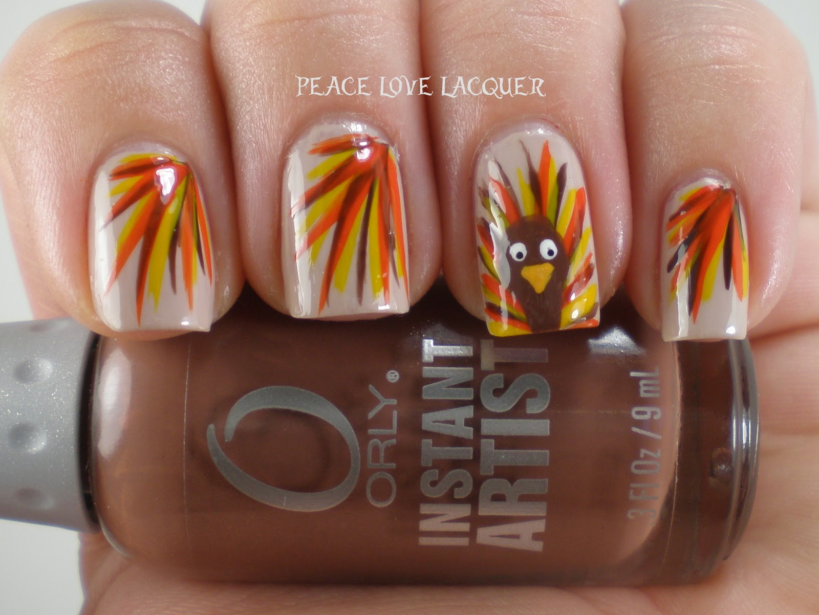 Peace love lacquer thanksgiving nail art challenge day 5 turkeys thanksgiving nail art challenge day 5 turkeys prinsesfo Gallery