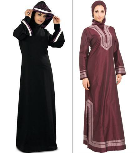 In past days Muslim Women used a black cover to hide themselves from men out of family, called Burqa or Abaa, now browse down and chose a design of latest fashionable burqa which may be used by any of age , a lady, girl, woman or an old aged ..... this design is taken from many Islamic countries and societies traditionally used by ladies of those countries, i.e, Moroccan Style Burqa, the Kaftan Style Burqa, The Floral Style Burqa, The Open Styled Burqa, Standard or may be known as Aba styled Burqa, The Butterfly Design Burqa,