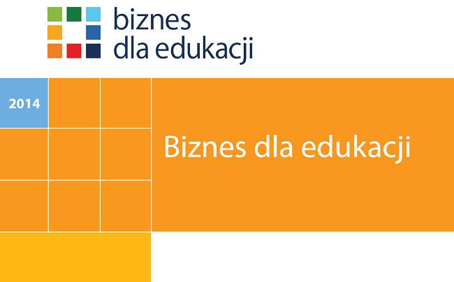 """Fragment okładki publikacji """"Biznes dla edukacji"""""""
