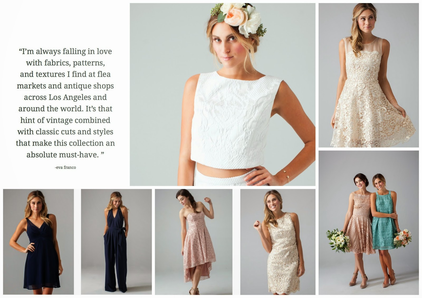 Beautyybychloe wedding trends eva for loverly bridesmaid today on the blog i am talking about bridesmaids dresses modern cuts colors and detail for spring 2015 specifically from the new eva for loverly line ombrellifo Image collections