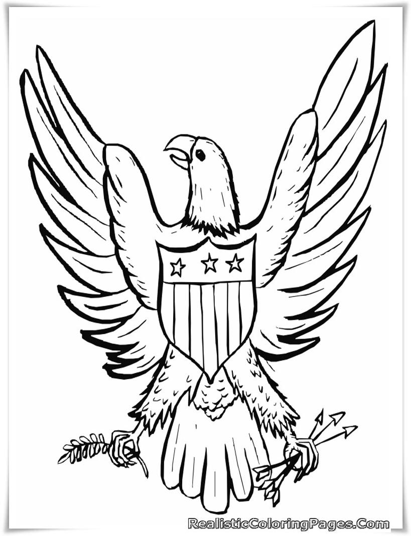 Printable coloring pages july 4 -  Printable Happy July 4th Coloring Pages For Kids Realistic