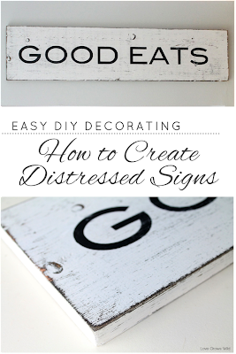 How to Create Distressed Signs