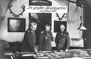 Hindenburg, Guillermo II y Ludendorff