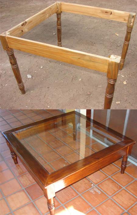 Antes y despues con partes de una mesa se hizo una mesa for Partes de una mesa