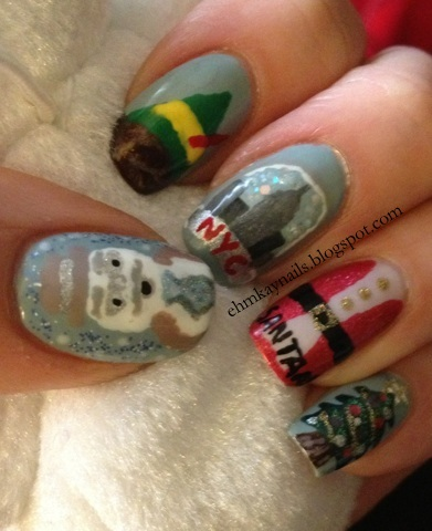 Elf The Movie Nail Art