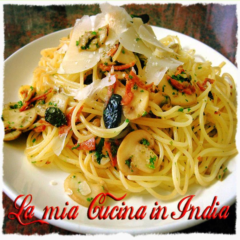 La mia cucina in India: Spaghetti di Mezzanotte - Midnight spaghetti